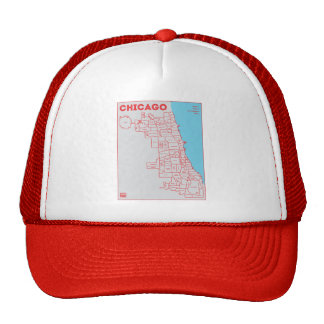 Chicago 'Hoods Map in Color Bold Star Trucker Hat