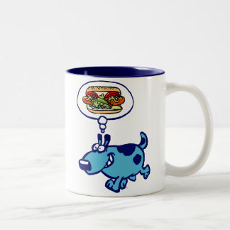 Chicago Hot Dog (blue cartoon dog) Mug