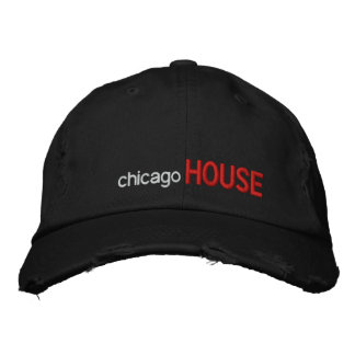 chicago, HOUSE Embroidered Baseball Hat