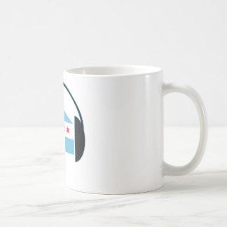 Chicago House Flag Headphones Coffee Mug