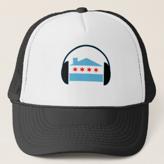Chicago House Flag Headphones Trucker Hat