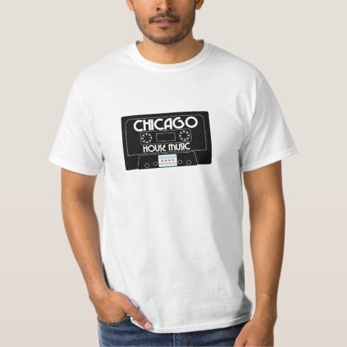 Chicago House Music Cassette (Black) T-Shirt