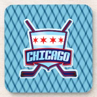 Chicago Ice Hockey Flag Drinks Mats Beverage Coaster