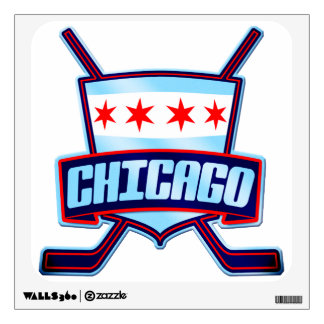 Chicago Ice Hockey Flag Wall Decal