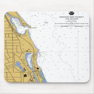 Chicago IL Belmont Diversey Harbor Chart Mousepad