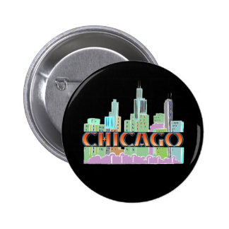 Chicago IL 2 Inch Round Button