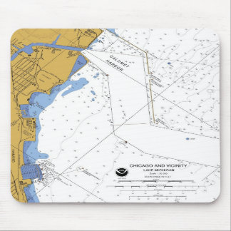 Chicago IL Calumet Harbor Nautical Chart mousepad