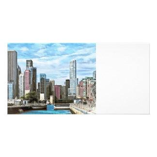 Chicago IL - Chicago Harbor Lock Card