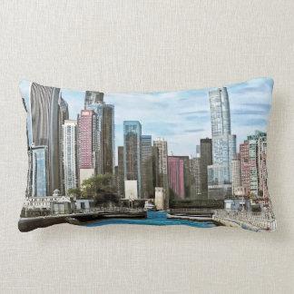 Chicago IL - Chicago Harbor Lock Lumbar Pillow