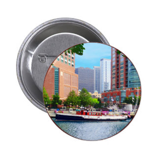 Chicago IL - Chicago River Near Centennial Fountai 2 Inch Round Button