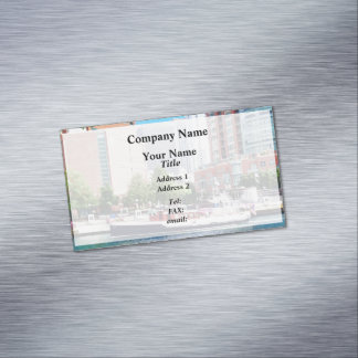 Chicago IL - Chicago River Near Centennial Fountai Magnetic Business Card