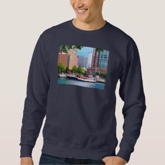 Chicago IL - Chicago River Near Centennial Fountai Pullover Sweatshirt