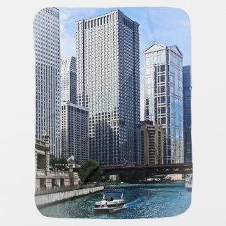 Chicago IL - Chicago River Near Wabash Ave. Bridge Baby Blanket
