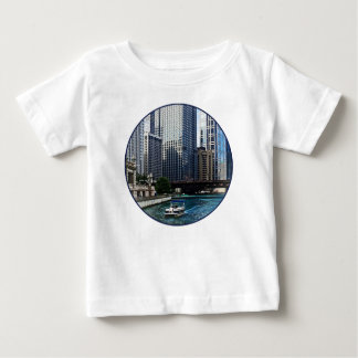 Chicago IL - Chicago River Near Wabash Ave. Bridge Baby T-Shirt