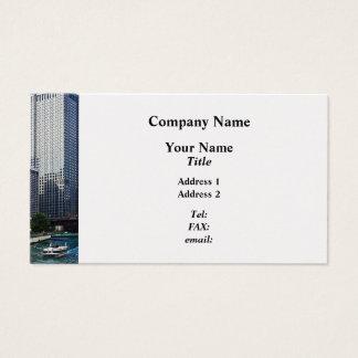 Chicago IL - Chicago River Near Wabash Ave. Bridge Business Card