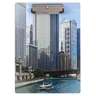 Chicago IL - Chicago River Near Wabash Ave. Bridge Clipboard