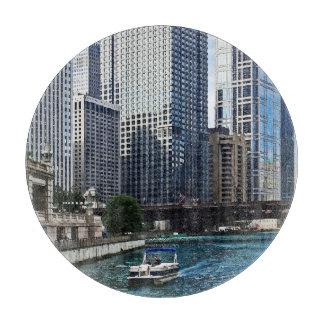 Chicago IL - Chicago River Near Wabash Ave. Bridge Cutting Board