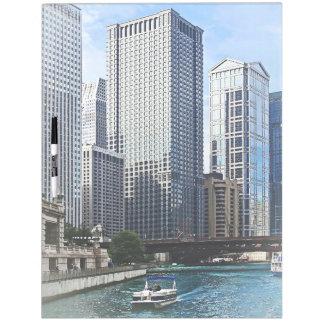 Chicago IL - Chicago River Near Wabash Ave. Bridge Dry Erase Whiteboard
