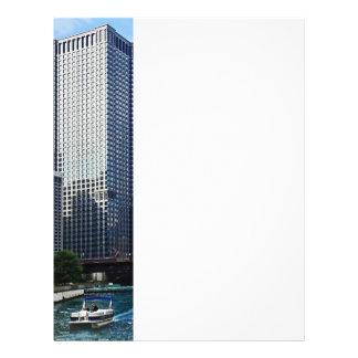 Chicago IL - Chicago River Near Wabash Ave. Bridge Full Color Flyer