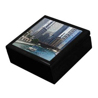 Chicago IL - Chicago River Near Wabash Ave. Bridge Gift Boxes
