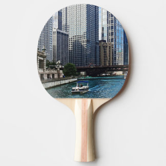 Chicago IL - Chicago River Near Wabash Ave. Bridge Ping-Pong Paddle