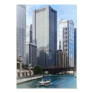 Chicago IL - Chicago River Near Wabash Ave. Bridge Card
