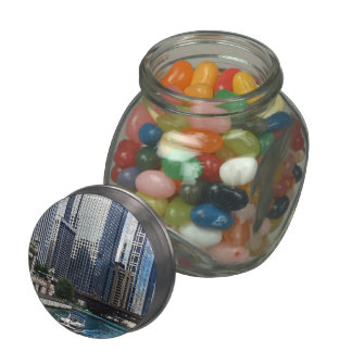 Chicago IL - Chicago River Near Wabash Ave. Bridge Jelly Belly Candy Jars