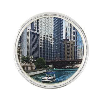 Chicago IL - Chicago River Near Wabash Ave. Bridge Lapel Pin