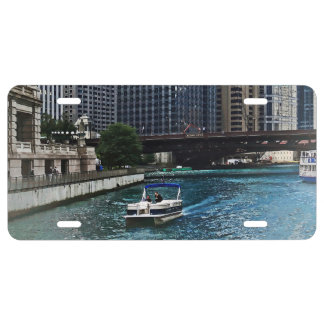 Chicago IL - Chicago River Near Wabash Ave. Bridge License Plate