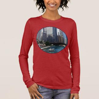 Chicago IL - Chicago River Near Wabash Ave. Bridge Long Sleeve T-Shirt