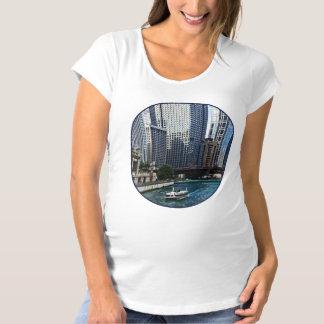 Chicago IL - Chicago River Near Wabash Ave. Bridge Maternity T-Shirt