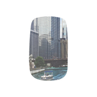 Chicago IL - Chicago River Near Wabash Ave. Bridge Minx® Nail Wraps
