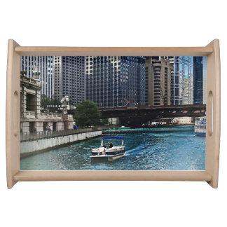 Chicago IL - Chicago River Near Wabash Ave. Bridge Food Tray