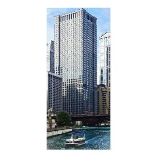 Chicago IL - Chicago River Near Wabash Ave. Bridge Rack Card