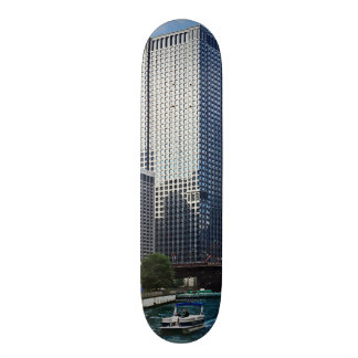 Chicago IL - Chicago River Near Wabash Ave. Bridge Skateboard