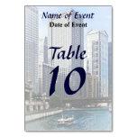 Chicago IL - Chicago River Near Wabash Ave. Bridge Table Card