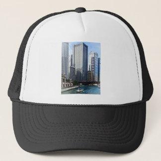 Chicago IL - Chicago River Near Wabash Ave. Bridge Trucker Hat