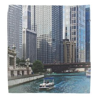 Chicago IL - Chicago River Near Wabash Ave. Bridge Bandanas
