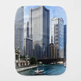 Chicago IL - Chicago River Near Wabash Ave. Bridge Burp Cloths