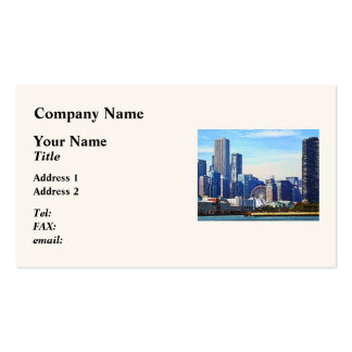 Chicago IL - Chicago Skyline and Navy Pier Business Card