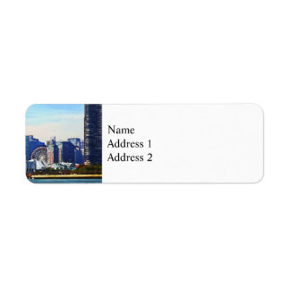 Chicago IL - Chicago Skyline and Navy Pier Label