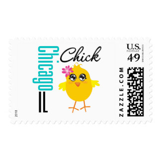 Chicago IL Chick Postage Stamps