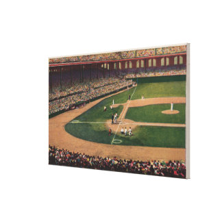 Chicago, IL - Comiskey Park, Home Plate, Basebal Canvas Print