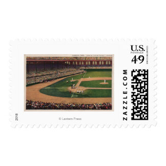 Chicago, IL - Comiskey Park, Home Plate, Basebal Postage