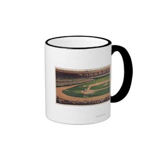 Chicago, IL - Comiskey Park, Home Plate, Basebal Ringer Mug