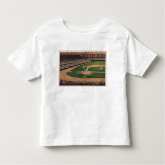 Chicago, IL - Comiskey Park, Home Plate, Basebal Tee Shirt
