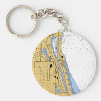 Chicago, IL Diversey Harbor Chart Keychain