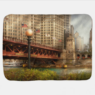 Chicago, IL - DuSable Bridge built in 1920 Baby Blanket