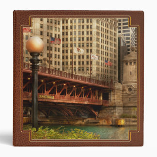 Chicago, IL - DuSable Bridge built in 1920 3 Ring Binders