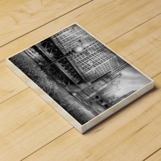 Chicago, IL - DuSable Bridge built in 1920  - BW Chocolate Countdown Calendar
